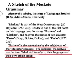 Alemayehu Abebe (1993) on Mesketo / Basketo
