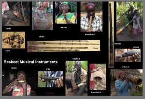 Baskeet musical instruments and their names
