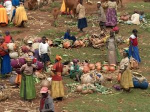Pot section on the Laska Thursday market