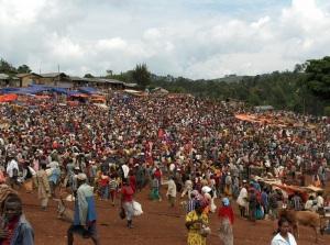 Thursday market in Laska