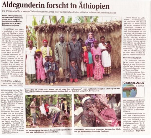 Article in RZ (16 May 2009) on Baskeet fieldwork