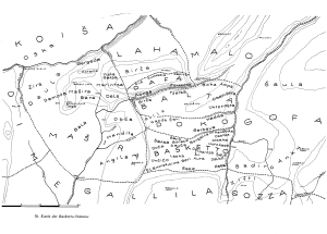 "Map of the Baskeet (""Basketto"") area from Haberland (1959)"